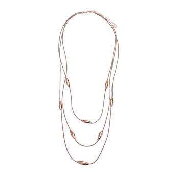 Necklace three<br>rosegold